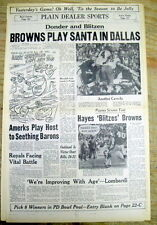 1967 newspaper DALLAS COWBOYS defeat CLEVELAND BROWNS in NFL football playoff