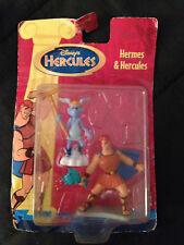 """Disney Hercules Hermes & Hercules 3"""" Action Figure Figurine Set Vintage Mattel"""