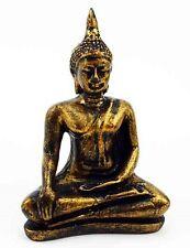 TIBETAN BUDDHA BEAUTIFUL FIGURINE 11cm CAST RESIN STATUE ORNAMENT THAI / BOXED