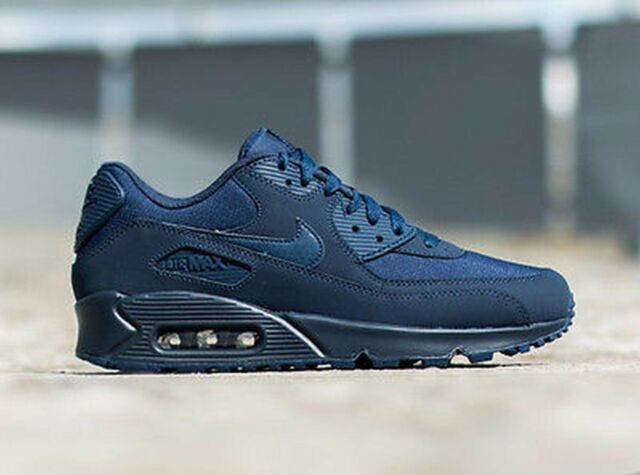 Size 10 - Nike Air Max 90 Essential Midnight Navy - 537384-412 for ...