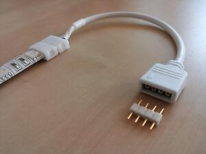 LED Strip RGB Verbindungskabel Verlängerungskabel Verteiler Power Strom mit Pin