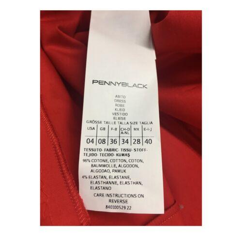 Pennyblack Abito Cotone Rosso Elastan Mod Maquette Manica Mezza Donna 4 96 rrq6dF