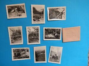 LOT DE 9 PETITES   PHOTO  CREST VOLAND SAVOIE  1958
