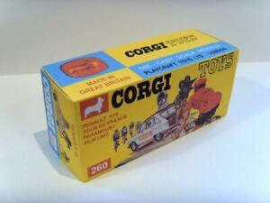 CORGI TOYS Nº 260-RENAULT Tour de France-SUPERBA visualizzazione personalizzata/repro box.