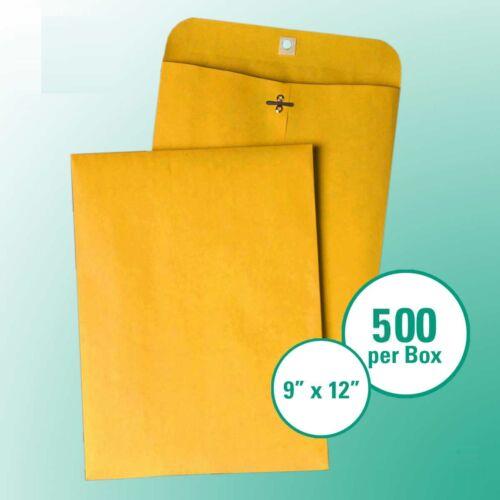 500 9x12 Kraft Clasp Business Source Catalog Seam 28lb Brown Craft Envelope