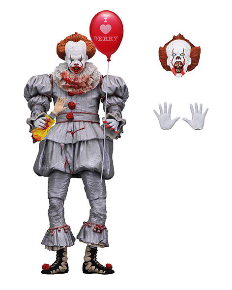 """NECA - IT - Ultimate Pennywise """"I HEART DERRY"""" (2017 Movie) (BRAND NEW & SEALED)"""
