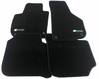 2008 NEU schwarz mit Absatzschoner STD Velours Fußmatten für VW Scirocco ab Bj