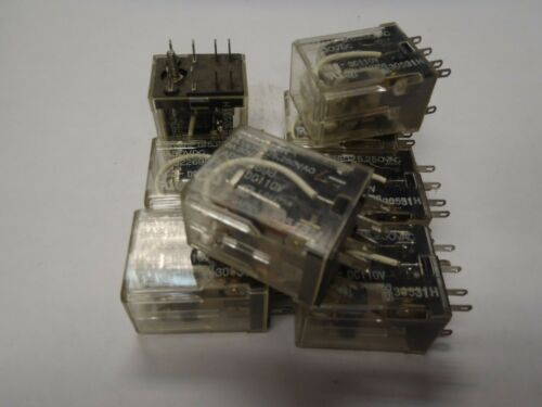 10pcs Lot Aromat 8 Pin Relay DPDT 110VDC 110V Coil Contact Rating 7A HC-2-DC110V