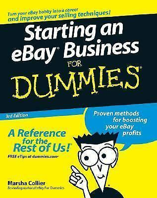 starting an ebay business for dummies by marsha collier 2007 paperback revised ebay