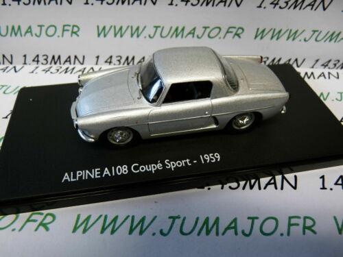 Renault Alpine A108 coupé sport 1959 grise RE64G voiture 1//43 ELIGOR