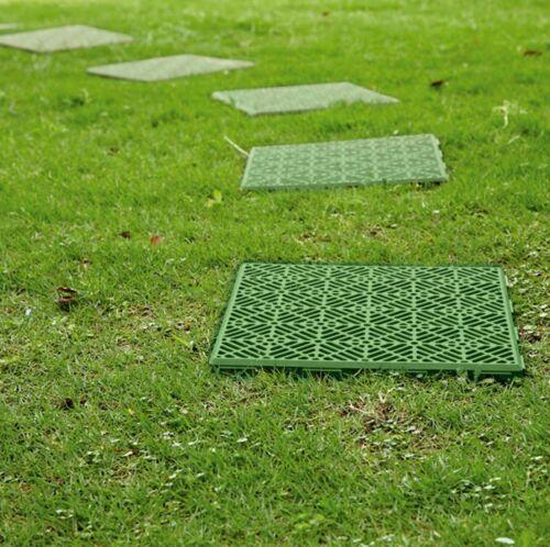 INTERLOCKING PLASTIC GARDEN PATH FLOOR TILES LAWN PAVING WALKWAY PATIO TILES