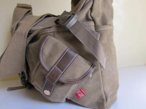 NUOVA Grande Tela Scuola College Viaggi Spalla Borsa a tracolla Messenger Bag