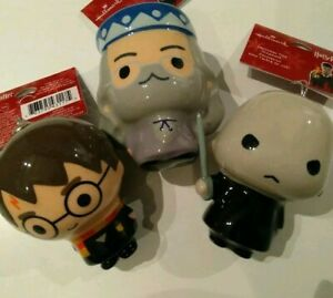 Hallmark-Harry-Potter-decoupage-ornaments-Xmas-2018-Voldemort-Dumbledore-lot