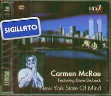 "CARMEN McRAE FEAT. DAVE BRUBECK "" NEW YORK STATE OF MIND "" CD SIGILLATO HD JAZZ"