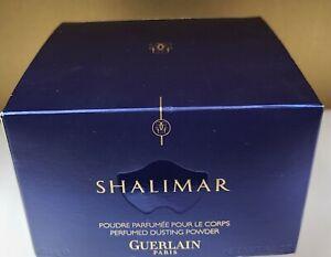 GUERLAIN Boxed Shalimar PERFUMED DUSTING POWDER Paris Blue