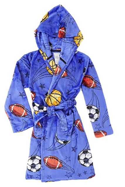 f4ee65064b Komar Kids Boys  Hooded Velvet Fleece Robe Sport Large for sale ...