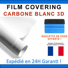 200 x 152cm Carbone 3D Blanc Film Vinyle Sticker Covering THERMOFORMABLE PRO
