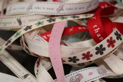9 STYLE 15mm Shabby Chic Retro Ribbons Cream Tape Craft Bows Ties BUY 1 2 4m+