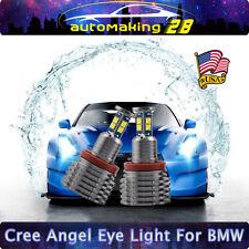 160W Tatal 7000K White BMW H8 LED Angel Eyes Ring Marker Bulb For 1 3 5 X Series