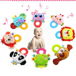 Creative-Cartoon-Animal-Plush-Toys-Stuffed-Rattle-Bed-Crib-Bell-Kids-Baby-Toys-G