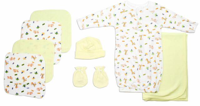 Neutral Newborn Baby 8 Pc  Baby Shower Gift Set