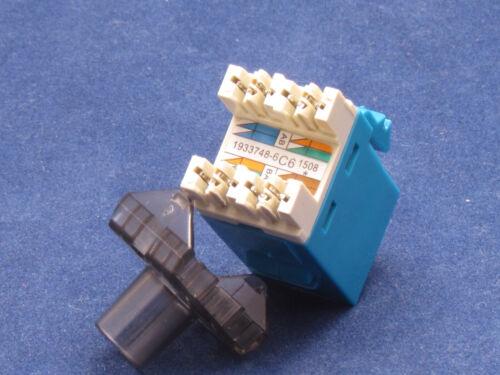 100 X LOT Keystone 8P8C CAT6 RJ45 Network 110 Style Socket Punch Down Jack Blue