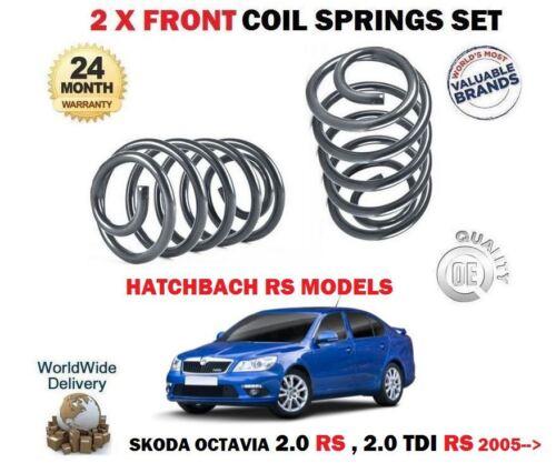 TDI RS MODELS HATCH 2005-2013 2 x FRONT COIL SPRINGS SET FOR SKODA OCTAVIA 2.0