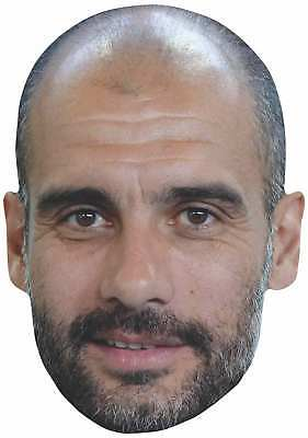 Pep Guardiola 2d Single Card Party Face Mask-manchester Football Manager- Fresco In Estate E Caldo In Inverno