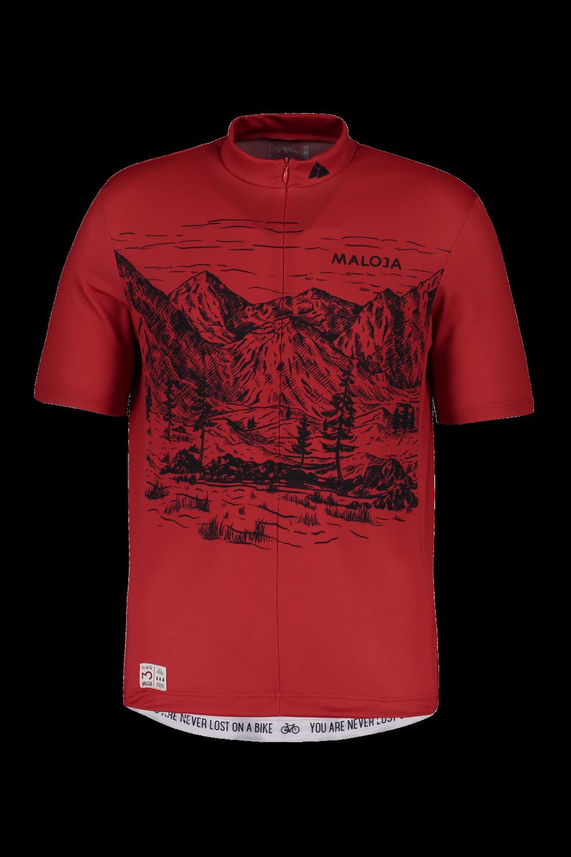 MALOJA SERLASM 12 SHORT SLEEV bicicletta JERSEY rosso 27253 MALOJA PE 2019