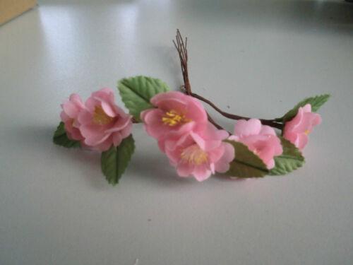 Kirsch fleur avec feuille de rose 1 Bottes//6 fleurs