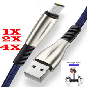 lot-Cable-Micro-USB-Chargeur-Sync-Data-Samsung-Sony-LG-HTC-Xiaomi-Huawei-Nylon