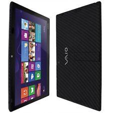 Skinomi Carbon Fiber Black Skin+Screen Prot for Sony Vaio Tap 11 (SVT11213CXB)