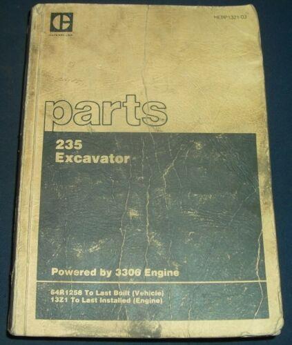 Details about  /CAT CATERPILLAR 235 EXCAVATOR PARTS MANUAL BOOK S//N 64R1258-LAST BUILT
