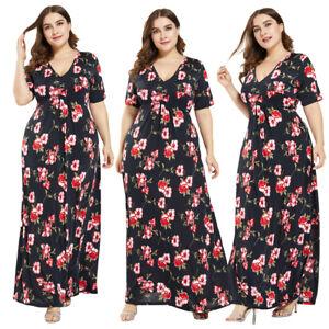 Women-Boho-Floral-Long-Maxi-Dress-Holiday-Beach-Sundress-Kaftan-Plus-Size-Casual