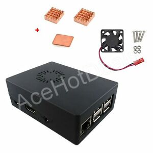 Black-ABS-Case-Enclosure-Box-with-Cooling-Fan-Heat-Sink-Kit-for-Raspberry-Pi-3