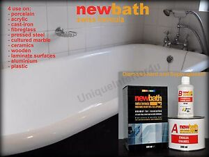 Standard Bath Resurfacing Kit Two-Component Enamel White Paint ...
