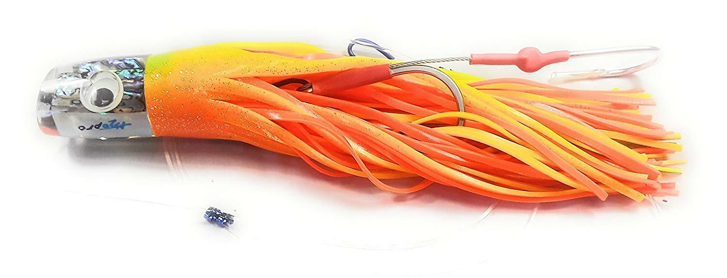 Katana Skirted  Trolling Lures (chartreuse orange abalone, Sumo)  here has the latest