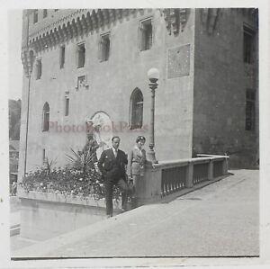 Suisse Lausanne Chateau Foto Stereo Th3n2 Placca Da Lente Vintage