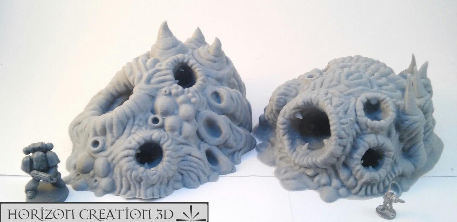 HC3D -Bio Terrain Tunnels- Alien Wargames Miniatures Scenery 40k 28mm 15mm