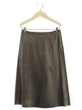 Jigsaw Womens Mocha Suede A Line Skirt Size 10