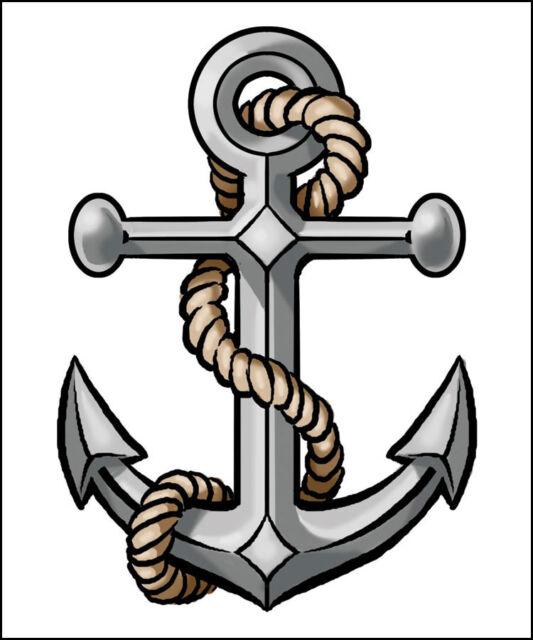 3 Anchor Temporary Tattoo Navy U S Naval Anchor Sailor Ebay