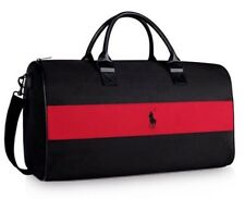 NEW RALPH LAUREN RED POLO DUFFLE Bag TRAVEL GYM WEEKENDER MUST SEE 2017 DESIGN