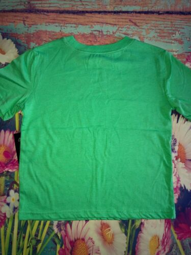 """Boys /""""Chicks Dig Me/"""" Graphic T Shirt Green New"""