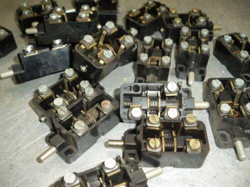 3 x KET 2  DDR Taster Grenztaster Mikroschalter Endschalter  6A 500V   #EL93#