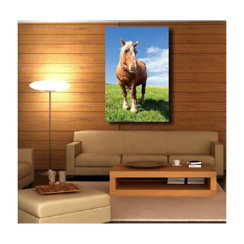 Canvas Fabric Deco Rectangle greenical Horse 5455974