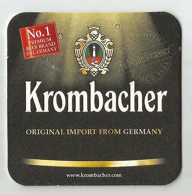 B226 3 Krombacher Beer Mats Coasters GermanyUnused