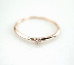 Eleganter-Ring-585er-14-Kt-Ring-Brillant-Goldring-Rotgold-0-86-Gramm-Gr-56