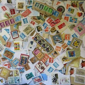 1-Kilo-of-Used-Charity-Collected-Kiloware-Stamps-MIXED-UK-FOREIGN-on-Paper-1000g