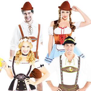 ADULTS BAVARIAN COSTUMES LEDERHOSEN MENS LADIES OKTOBERFEST GERMAN FANCY DRESS