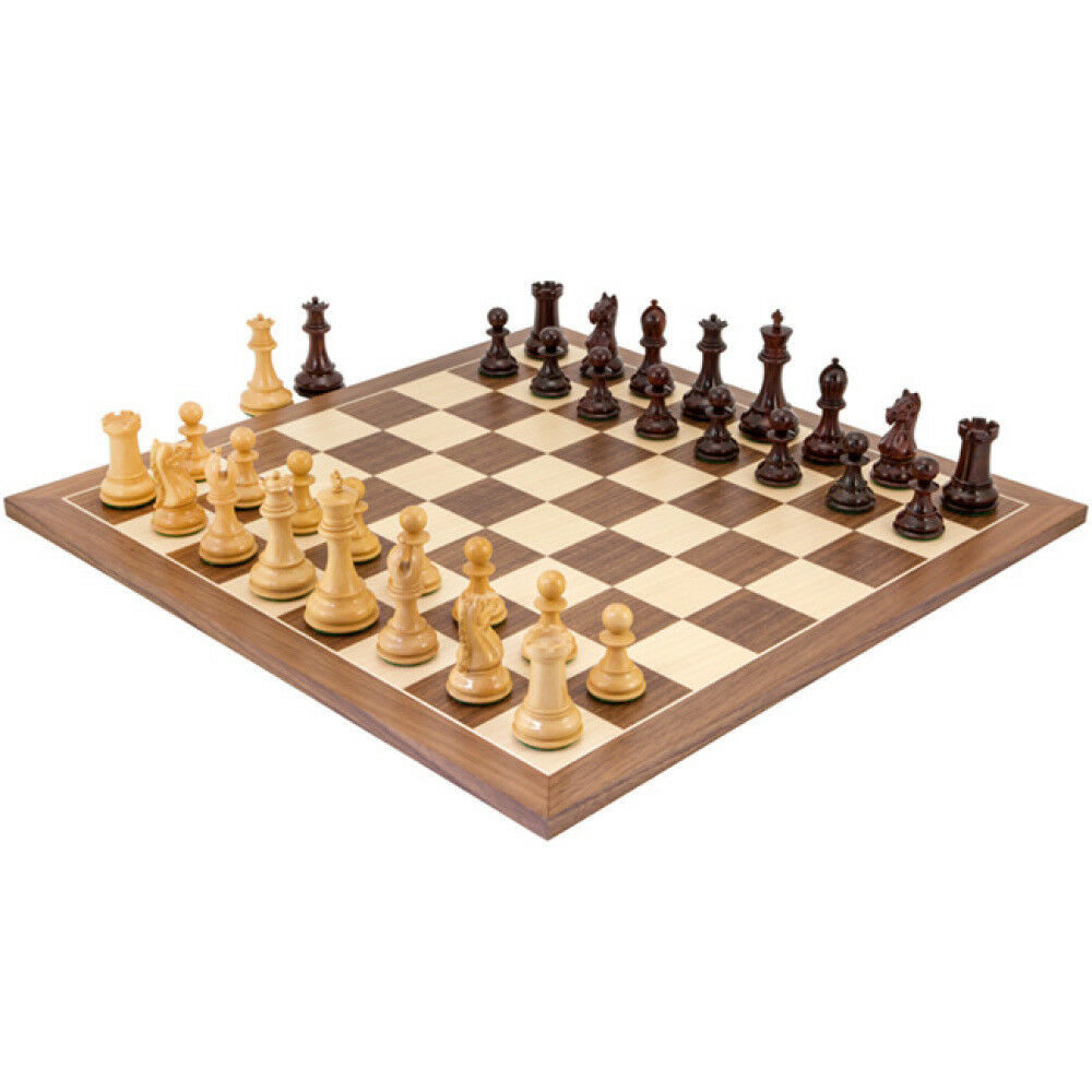 Sentinel Red Red Red Sandalwood and Walnut Chess Set 05afbb
